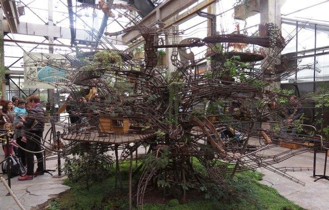 Le projet d'Arbre aux hérons est exposé à la Galerie des machines.