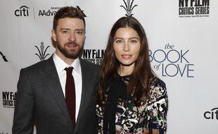 Le chanteur Justin Timberlake et son épouse, l'actrice Jessica Biel