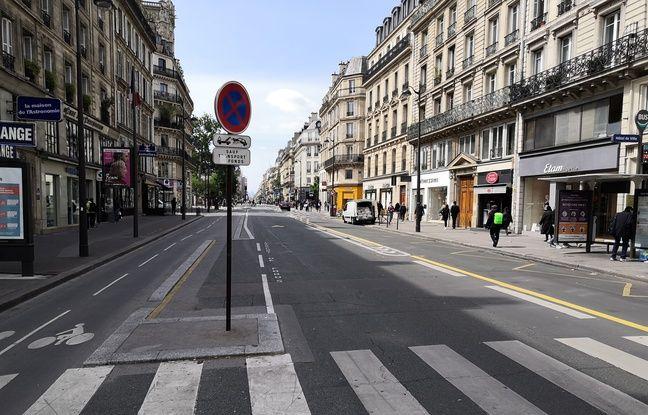 Les nouveaux aménagements rue de Rivoli, au premier jour du déconfinement (même si ça ne se voit pas).