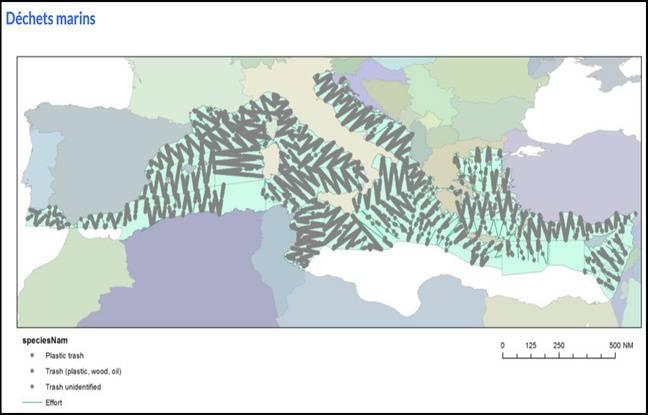 La carte de localisation des déchets