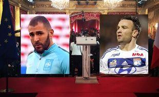 Karim Benzema est entendu dans le cadre de l'affaire du chantage à la sextape de Mathieu Valbuena (photomontage)