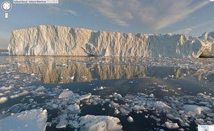 Le fjord glacé d'Ilulisat, au Groenland, photographié par Google Street View.