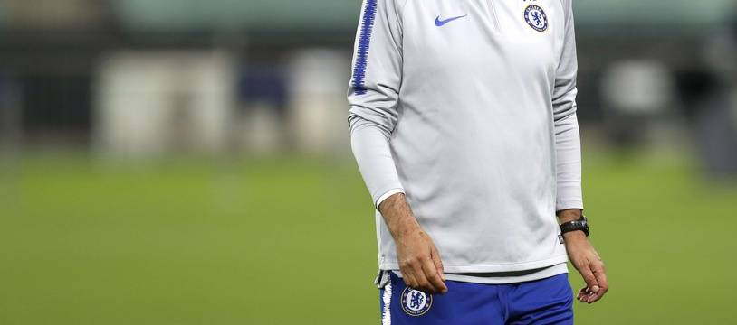Maurizio Sarri avant la finale de Ligue Europa.