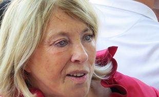 Marseille, le 17 octobre 2014, Maryse Joissains, maire d'Aix-en-Provence, est opposee a la metropole.