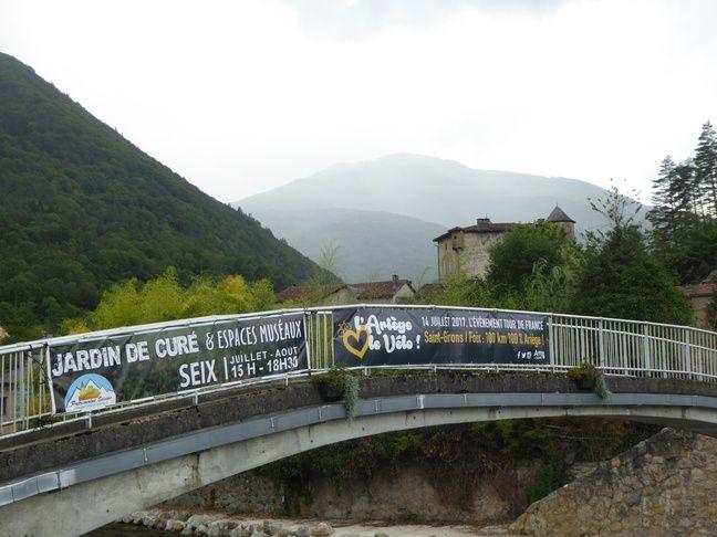 La commune de Seix, à côté d'Oust, en Ariège.