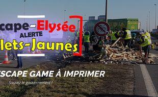 """Une start-up du Rhône a créé un escape game spécial """"gilets jaunes"""""""