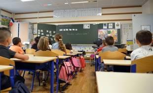 Une classe d'école maternelle. (illustration)