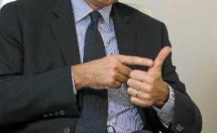 Jean-François Copé, au siège de l'UMP, à Paris, mardi.