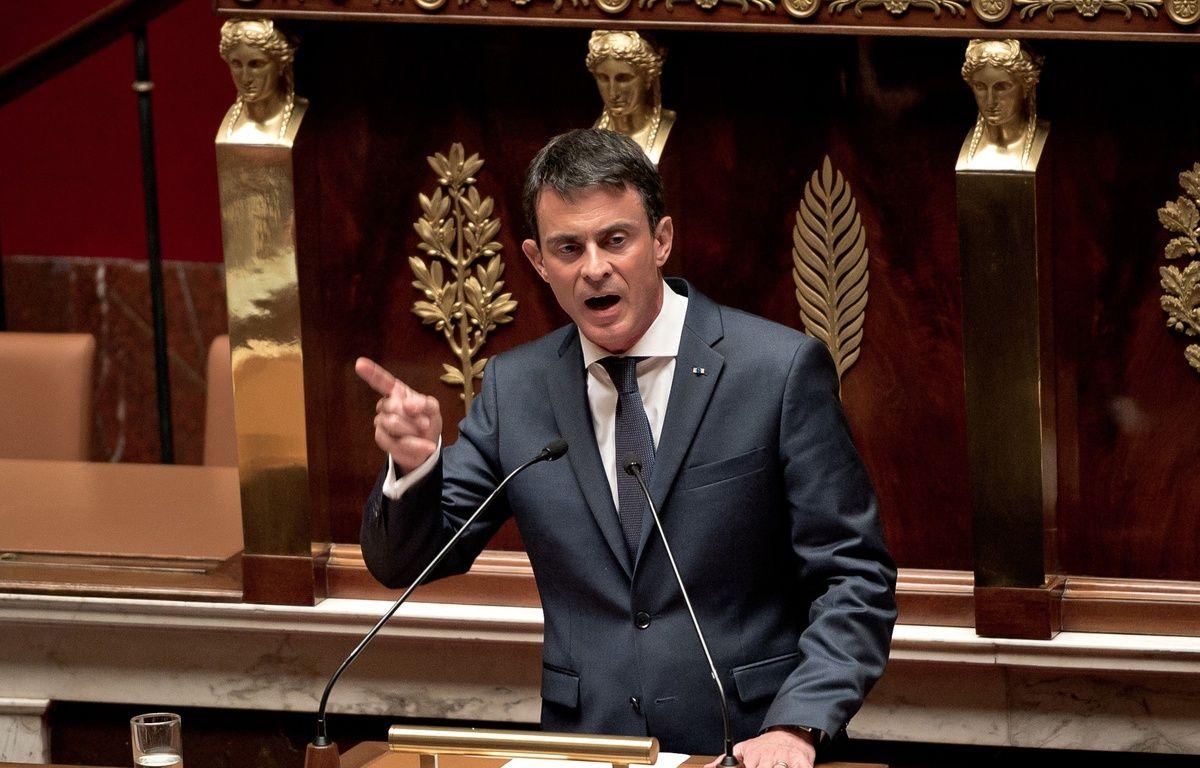 Le Premier ministre défend le 5 février 2015 le projet de loi de révision constitutionnelle à l'Assemblée (ici sur une photo prise le 25 novembre 2015). – NICOLAS MESSYASZ/SIPA