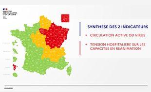 La carte de synthèse sur la situation épidémique du coronavirus le 5 mai 2020.