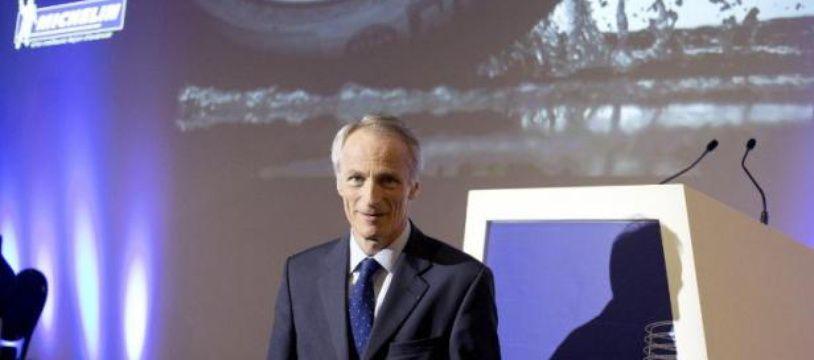 Jean-Dominique Senard, PDG de Michelin, présente les résultats de son groupe le 29 juillet 2014 à Paris
