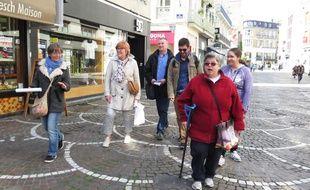Une équipe des Papillons Blancs sillonnent le centre-ville de Lille.