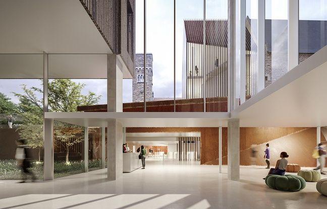 Image de synthèse du nouveau musée Dobrée de Nantes