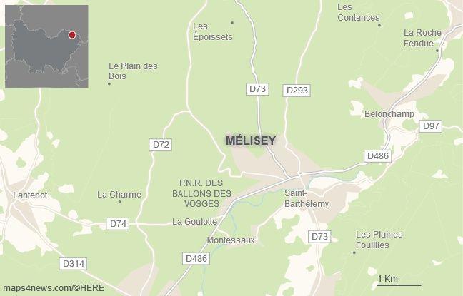 La commune de Melisey, en Haute-Saône.