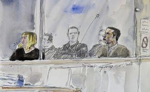 Cécile Bourgeon et Berkane Makhlouf, dans le box des accusés, lundi 14 novembre, à la cour d'assises de Riom.