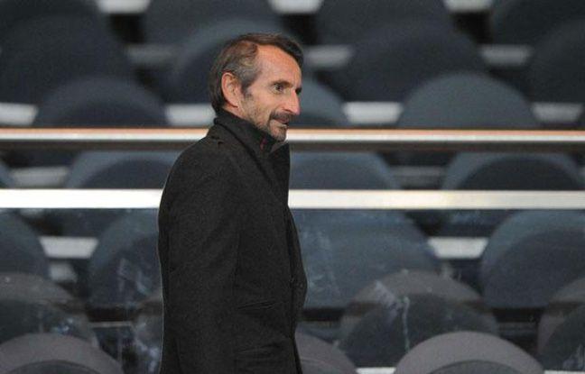 Jean-ClaudeBlanc à l'issue du match entre le PSG et Bratislava, le 3 novembre 2011 àParis.
