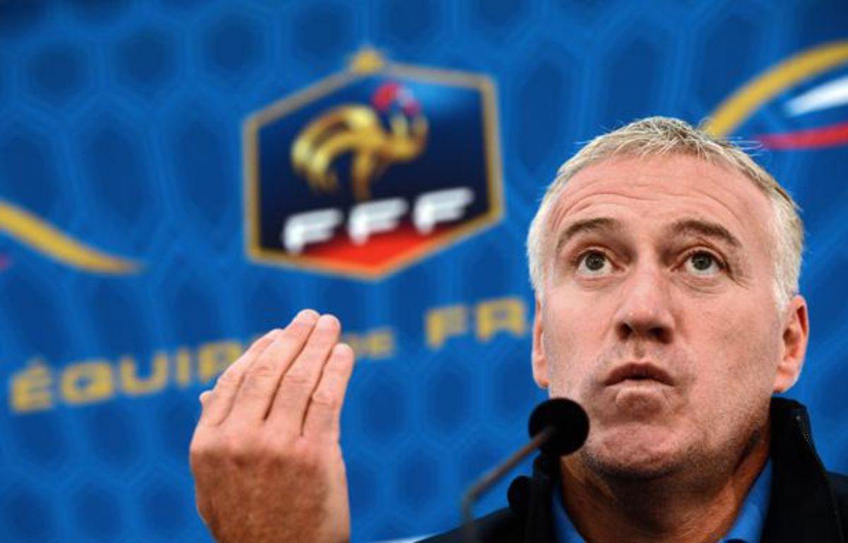 Le sélectionneur des Bleus, Didier Deschamps, à Clairefontaine, le 8 octobre 2012. – FRANCK FIFE / AFP