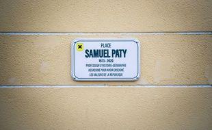 La place Samuel Paty à Villeuneuve Loubet.
