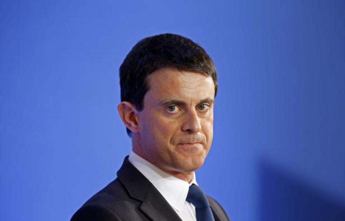 Le ministre de l'Intérieur, Manuel Valls, le 18 janvier 2013, à Paris. – C.PLATIAU / REUTERS