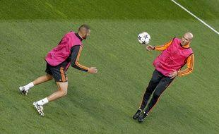 Zidane et Benzema se côtoient à Madrid.