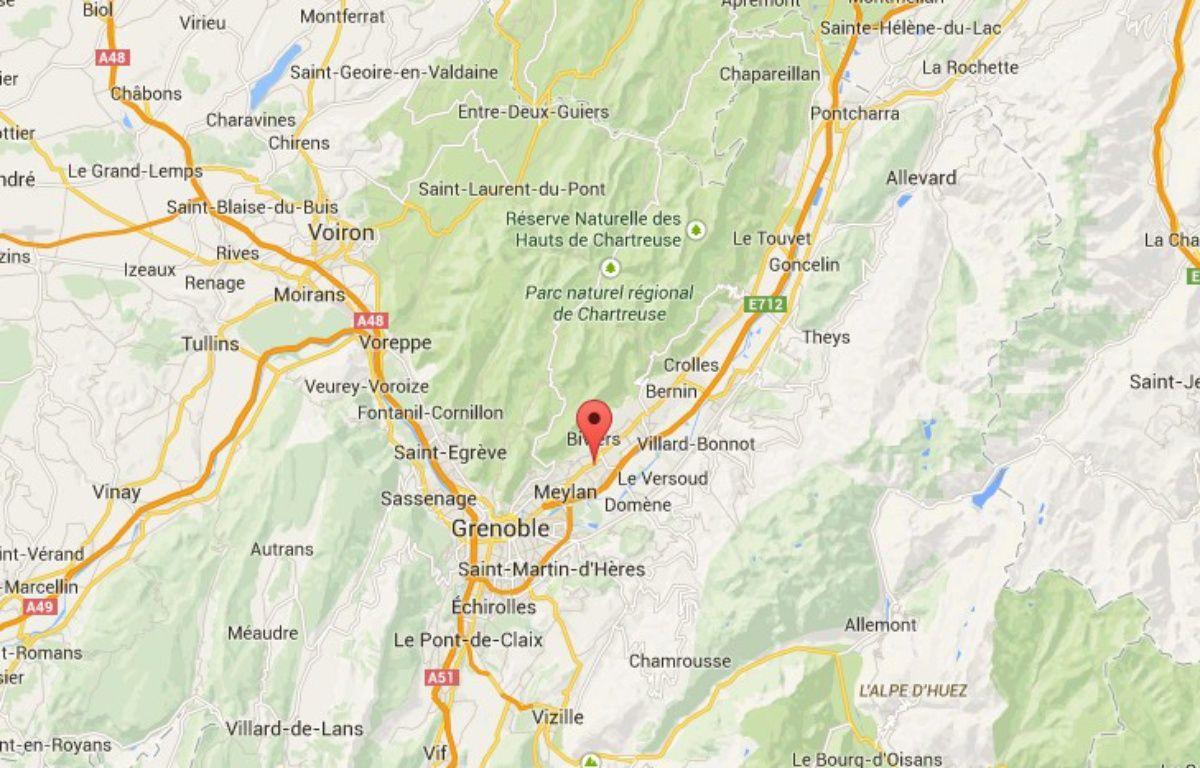 Montbonnot-Saint-Martin, dans l'Isère. – Google maps