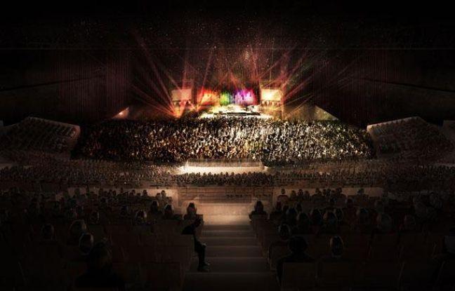 La configuration de la future salle de spectacles de Floirac en mode spectacle