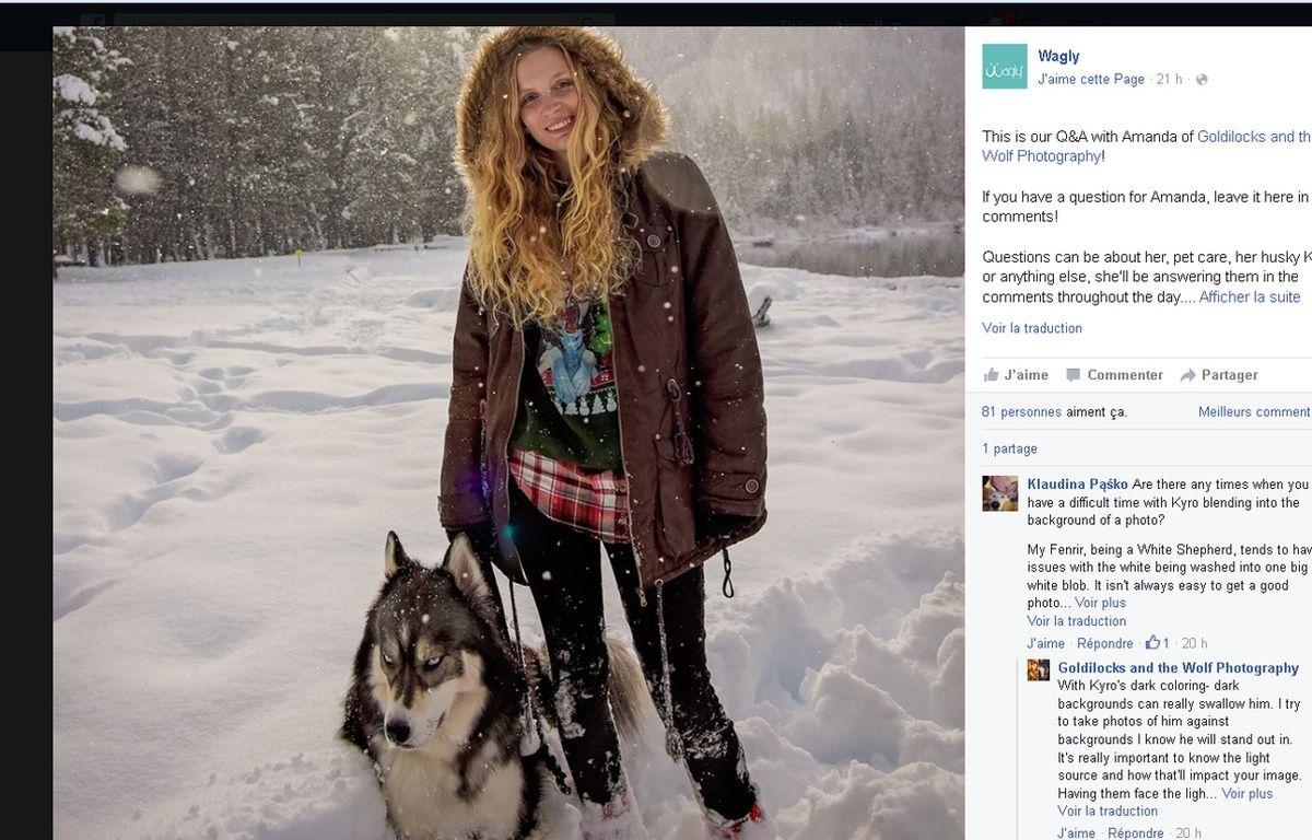 Sauvée par son chien – Facebook