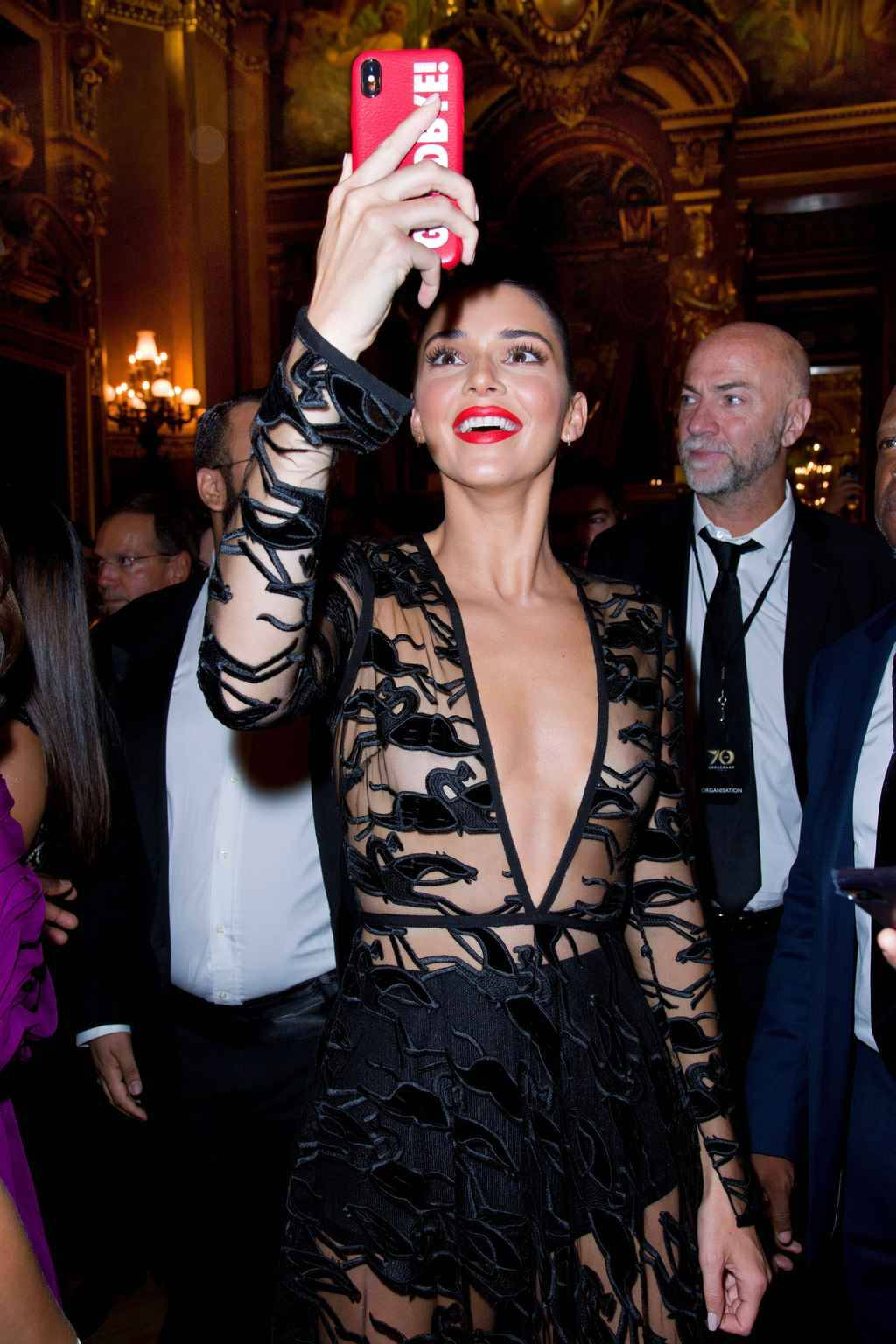 Mandatory Credit: Photo by Dominique Maitre/WWD/REX/Shutterstock (9879704o) Kendall Jenner Longchamp 70th Anniversary Celebration, Opera Garnier, Paris, France - 11 Sep 2018