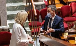 Marine Le Pen et Gérald Darmanin à l'Assemblée nationale.
