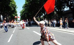 Manifestation conre la réforme des retraites à Toulouse, le 24 juin 2010.