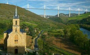 Le viaduc de Millau, dans l'Aveyron.