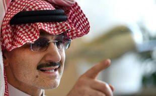 Le milliardaire saoudien Al-Walid ben Talal, le 1er juillet 2015 lors d'une conférence de presse à Ryad