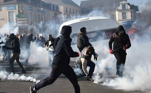 Manifestation des forains au Mans, le 22 mars 2019.