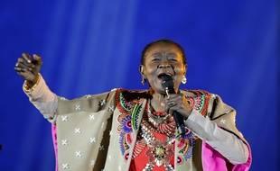 Calypso Rose aux Victoires de la Musique.