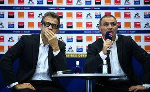 Fabien Galthié et Raphaël Ibanez