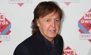 Le chanteur Paul McCartney aux NME Awards à Londres