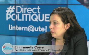 Emmanuelle Cosse (EELV) dans #DirectPolitique, le 20 octobre 2015.