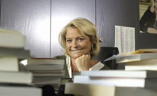 Marina Carrere d'Encausse dans ses bureaux. Issy les Moulineaux.
