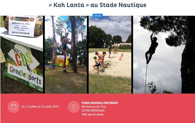 Gut bekannt Venez essayer le Koh-Lanta made in Mérignac ZL37