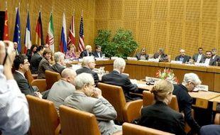 Négociations sur le dossier nucléaire entre l'Iran et les grandes puissances du 5+1 (Allemagne, Chine, Etats-Unis, France, Royaume-Uni et Russie), à Vienne le 3 juillet 2014