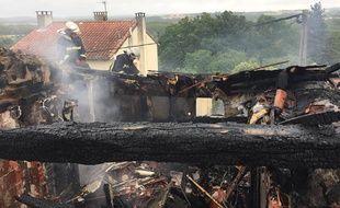 La maison de Donneville où sont intervenus les pompiers toulousains.