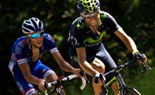 Alejandro Valverde et Thibaut Pinot le 18 juillet 2014.