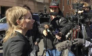 Chelsea Manning s'adresse aux médias à Washington, le 5 mars 2019.