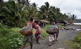 Des femmes dans le village de Kerema, en Papouasie Nouvelle Guinée.