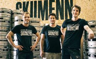 Stéphane Le Boucher, Maxime Noëll et Thomas Cleraux déménageront la brasserie Skumenn d'Acigné à Rennes au printemps 2020.