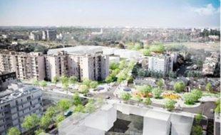 La nouvelle place Ronsard, qui sera livrée à l'été 2012, sera prolongée autour de la rue du Lot.
