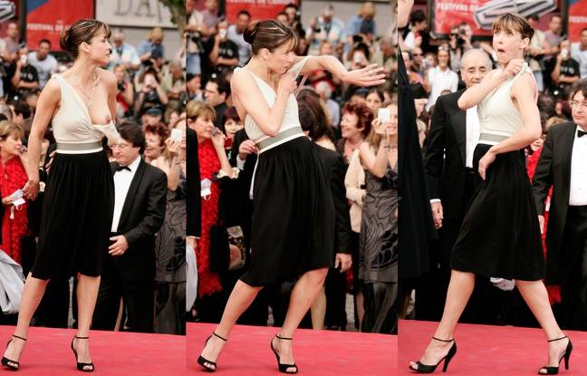 Sophie Marceau aux pieds des marches le 13 mai 2005.