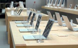 Un Apple Store à New York.