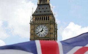 Le drapeau anglais.