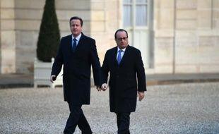 François Hollande et David Cameron à l'Elysée le 23 novembre 2015 à Paris